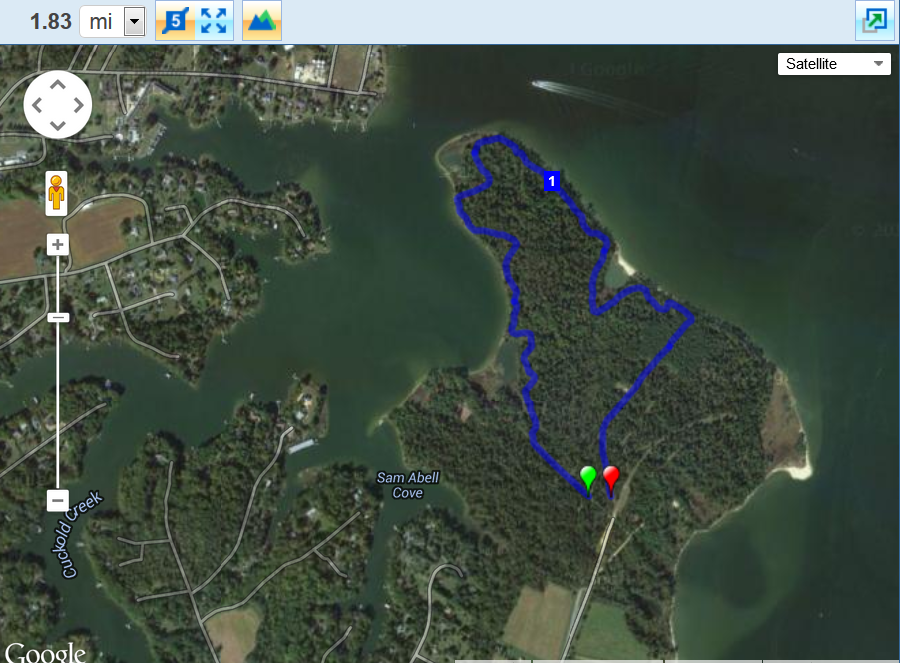 Myrtle Point 2014 Trail Map Snapshot